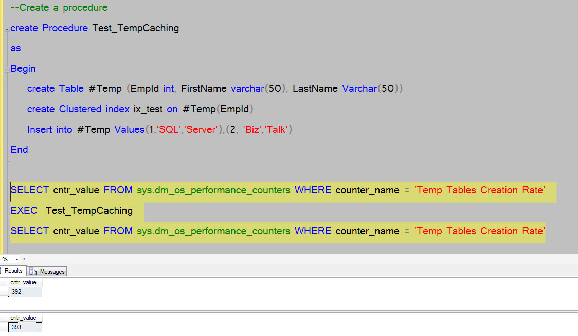 Temporary Table Caching In Sql Server Sqlzealots