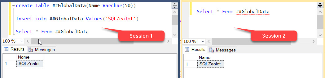 Temp Tables & Variables – SQLZealots