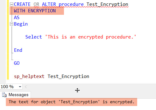 WITH Encryption clause in SQL Server – SQLZealots